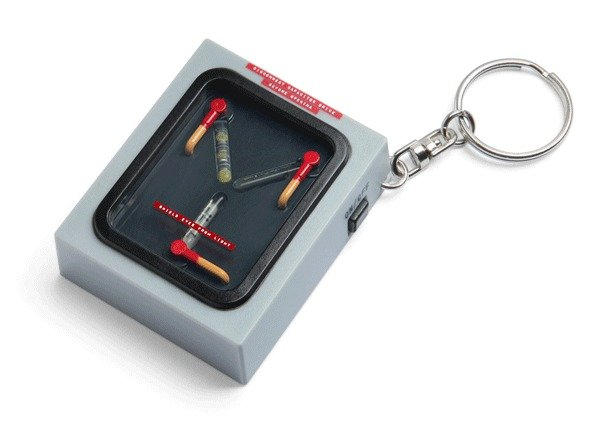 Back to the Future Flux Capacitor Light Up Keychain NEW FREE SHIPPING GIFT
