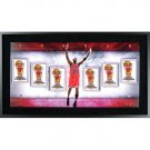 Michael Jordan Autographed Championship Banners Collage Photo