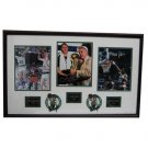 Boston Celtics Larry Bird, Robert Parish, and Kevin McHale Autographed Framed Piece