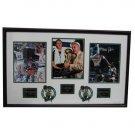 Boston Celtics Larry Bird, Robert Parish, and Kevin McHale Autographed Framed Piece
