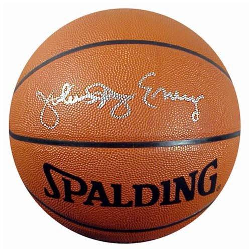 Mounted Memories Philadelphia 76ers Dr. J Autographed Basketball
