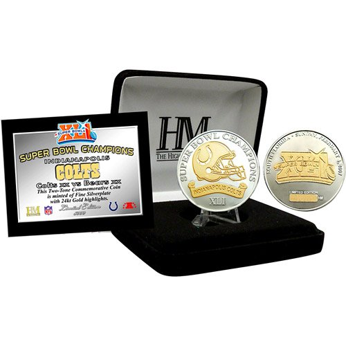 Indianapolis Colts Super Bowl XLI Champions Two Tone Coin
