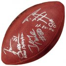 "Mounted Memories Rice, Brown, Carter Autographed ""1000 Catches"" Football"