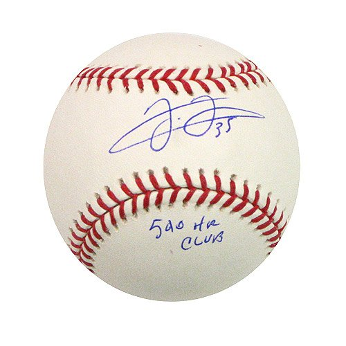 Toronto Blue Jays Frank Thomas Autographed Baseball Inscribed 500 HR Club MLB Authenticated