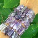 Chevron Amethyst Bracelet
