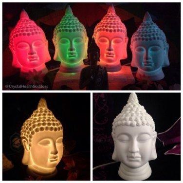 BUDDHA LAMP Made of white Porcelain