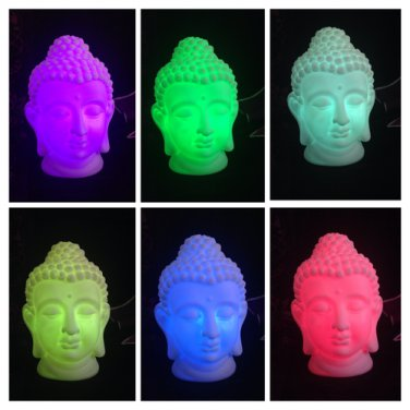 Color Changing BUDDHA LAMP Cordless! Change into 6 different colors!