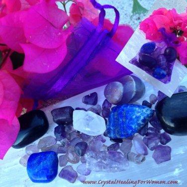 Migraine Pain Relief Crystal Medicine Bag