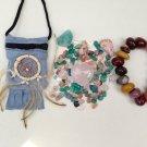 Self Love Relationsip Aid Crystal Pouch + Mookaite Bracelet