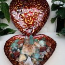 Prosperity Crystals Healing House Kit Artisan Heart Shaped Crystal Center Piece