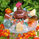 Prosperity Crystals Goldstone Buddha Healing Kit