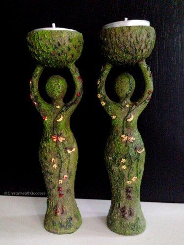 Goddess Candle Holder Statue Figurine