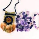 Amethyst Lover Crystal Healing Pouch + Amethyst Bracelet