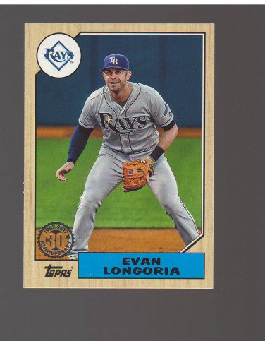 2017 Topps '87 Topps #31 Evan Longoria Team: Tampa Bay Rays