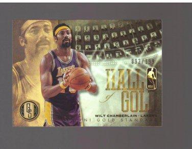 2012-13 Panini Gold Standard Hall of Gold #13 Wilt Chamberlain 092/199 : Team Los Angeles Lakers