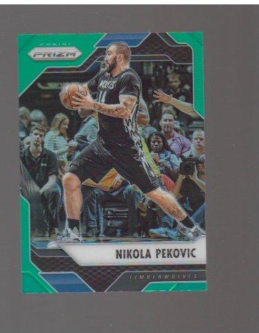 2016-17 Panini Prizm Prizms Green #267 Nikola Pekovic Team: Minnesota Timberwolves