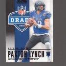 2016 Score NFL Draft Black #1 Paxton Lynch Team: Denver Broncos
