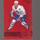2012-13 Fleer Retro Metal Universe Precious Metal Gems Red #15 Doug Gilmour /100 Toronto Maple Leafs