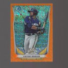 2014 Bowman Chrome Scout Top 5 Mini Orange Refractor #BMMB4 Victor Roache 11/50 Milwaukee Brewers