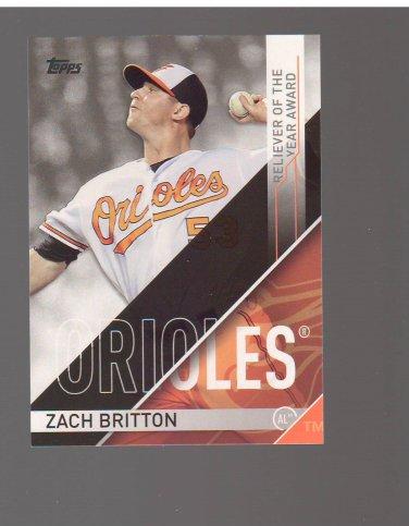 2017 Topps MLB Awards #RLY1 Zach Britton Team: Baltimore Orioles
