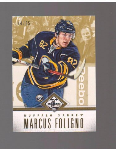 2012-13 Limited Gold #112 Marcus Foligno 14/25 Team: Buffalo Sabres