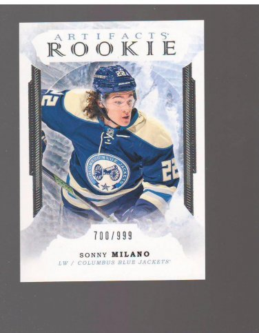 2016-17 Artifacts #162 Sonny Milano RC 700/999 Team: Columbus Blue Jackets