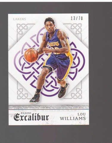 2015-16 Panini Excalibur Silver #97 Lou Williams 13/70