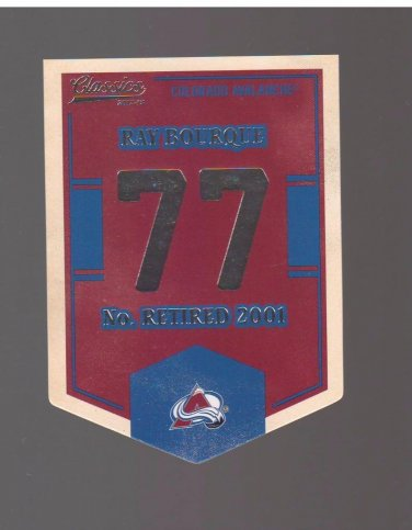 2012-13 Classics Signatures Banner Numbers #25 Ray Bourque