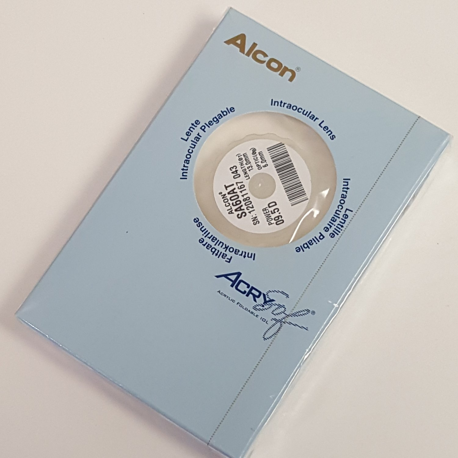 Alcon SA60AT Acrysof  Lens  09.5D