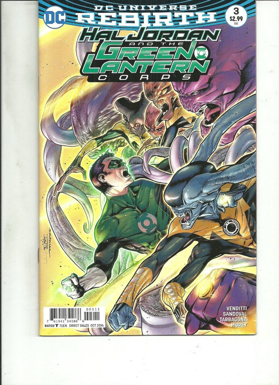 HAL JORDAN AND THE GREEN LANTERN CORPS #3 REBIRTH DC Comics 2016 1st Print NM
