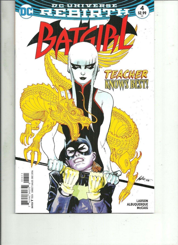 BATGIRL #4 REBIRTH DC Comics 2016 1st Print NM