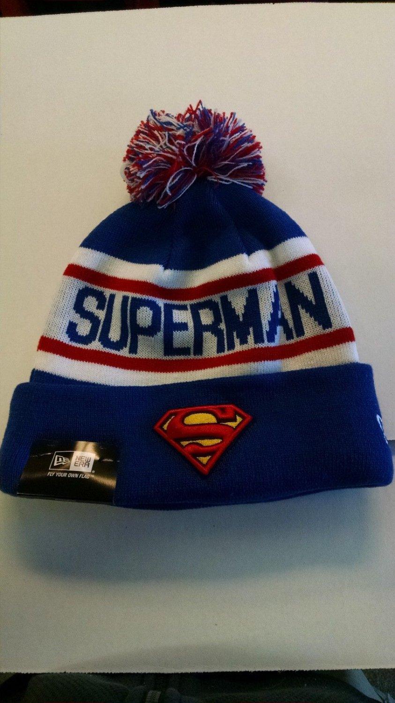 """SUPERMAN New Era """"Biggest Fan Redux"""" Cuffed Knit Hat DC COMICS"""