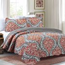 3 Piece Quilt Set Emma-Gray (QueenSize)