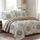 3 Piece Quilt Set Emma-Beige (QueenSize)