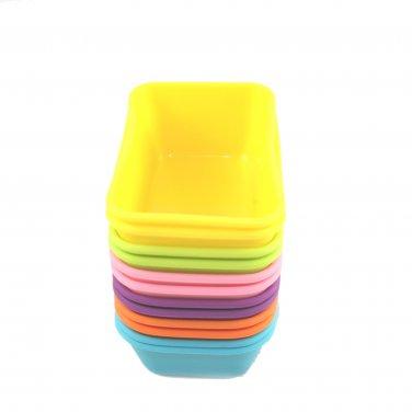 12-Pack Steadys BM-0123L Reusable Non-Stick Rectangle Premium Silicone Baking Cups