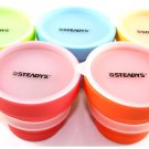 5-Pack Set Steadys FC-0101 Portable Silicone Collapsible Cup for Travel and Camping