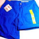 DKNY Jeans Women's  Casual Roll Tab Shorts~Cobalt Blue~Sz-8~NWT