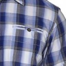 DAKOTA GRIZZLY Men's Short Sleeve Plaid Shirt~Ocean Blue~Size-M~NWT