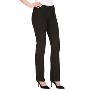 Hilary Radley Women's Stretch Slim Leg Dress Pants~Black~Sz-6x30~NWT