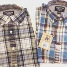 The New Ivy Brand Mens Short Sleeve Plaid Shirt Size-M Vintage Classics NWT