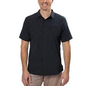 GERRY Men's Short Sleeve Moisture Wicking 40+ UPF Shirt~BLACK~Sz-L~NWT