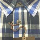 Weatherproof Vintage Men's Long Sleeve Shirt~Royal Plaid~Sizes-M & L~NWT