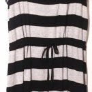 Olive & Oak Women's Summer Sun Dress~Black/Gray Striped~Size-Small~NEW~ret-$50