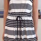 Olive & Oak Women's Summer Sun Dress~Black/Ivory Striped~Size-Small~NEW~ret-$50