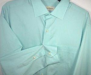 Tommy Bahama Men's Long Sleeve Striped Dress Shirt~Green~Sz-17.5  34/35~NEW