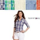 Tommy Hilfiger Women's Roll Tab Sleeve Top Shirt~Variety of Sizes & Colors~NWT