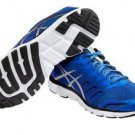 Asics Men's GEL-Zaraca 4 Running Shoes~Sz-8.5~Blue/Silver/Onyx~NWT