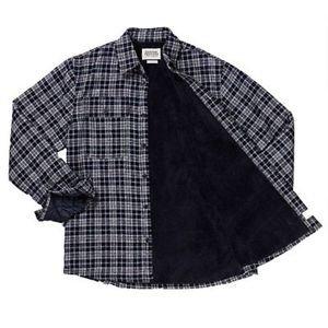 Boston Traders Men's Sherpa Flannel Plaid Shirt Jacket~Sz-L~NWT