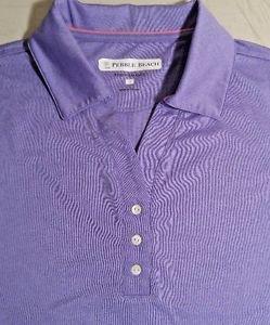 Pebble Beach Women's Polo Golf Short Sleeve Shirt Top~Purple~Sz-M & L~NWT