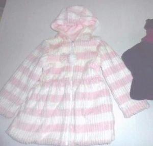 American Widgeon Girl's Faux Fur Hooded Zip Coat Jacket~PINK~Sz-6~NEW